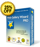 25% off Web Gallery Wizard PRO
